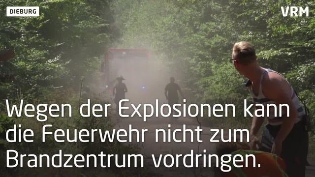 Waldbrand am Muna Munitionsdepot bei Dieburg