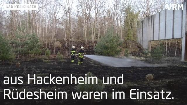 Flächenbrand auf dem Kreuznacher Kuhberg