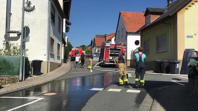 Brand in einem Wohnhaus in Essenheim