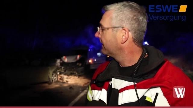 Drei Verletzte bei Unfall auf der B8 bei Idstein