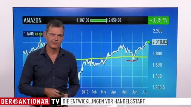 Marktüberblick: Dow Jones, DAX, Tencent, Bitcoin, Amazon, Bayer, BASF, Deutsche Bank
