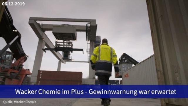 Aktie im Fokus: Wacker Chemie im Plus - Gewinnwarnung war erwartet