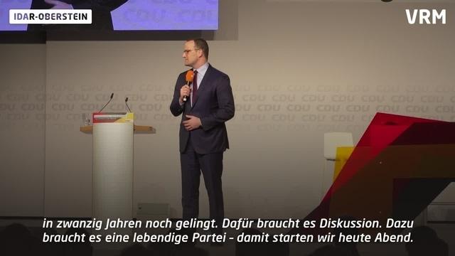 CDU-Kandidaten für den Parteivorsitz präsentieren sich