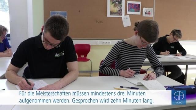 Deutsche Meisterschaften in Stenografie in Grünberg