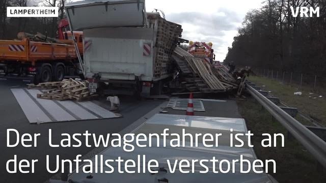 Tödlicher Unfall auf Autobahn 67 bei Lampertheim