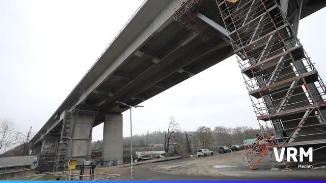 A66: Schaden nach Bohrarbeiten auf Salzbachtalbrücke