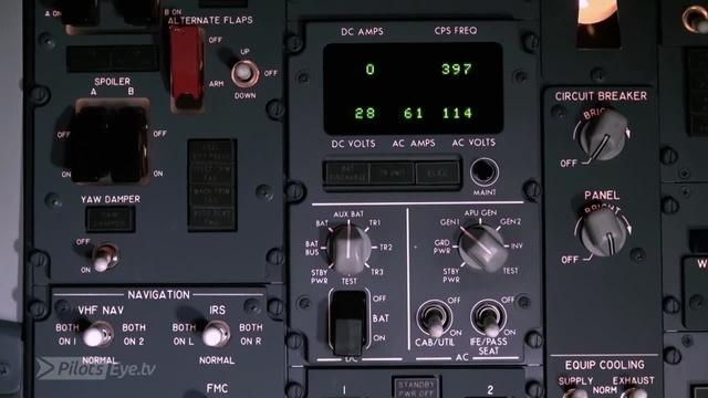 Das Overhead-Panel der Boeing 737