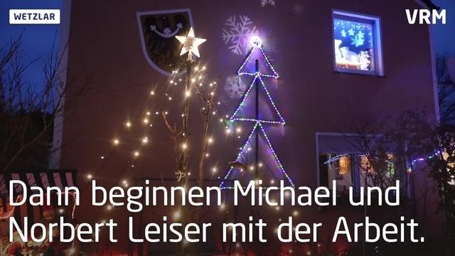 Weihnachtshaus in Wetzlar ist ein Hingucker