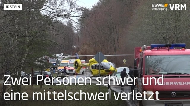 Verkehrsunfall auf der B275 bei Idstein