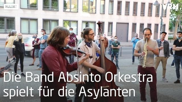 Solidaritätskonzert vor dem Allianzhaus in Mainz