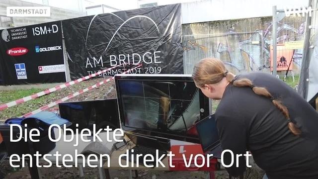 Eine Stahlbrücke aus dem 3D-Drucker