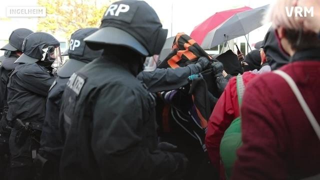 Demo in Ingelheim gegen Rechts