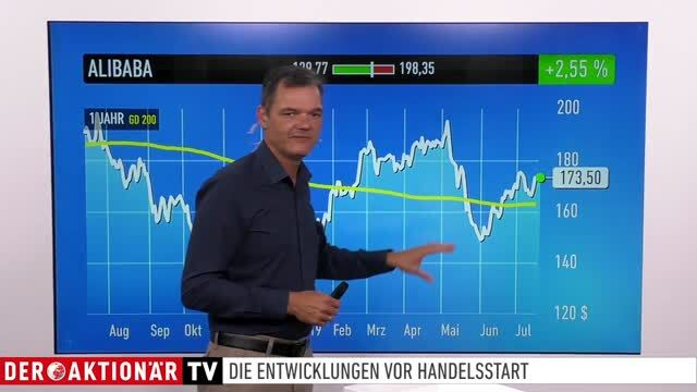 Marktüberblick: Dow Jones, DAX, Alibaba, Facebook, Amazon, Osram, Bayer