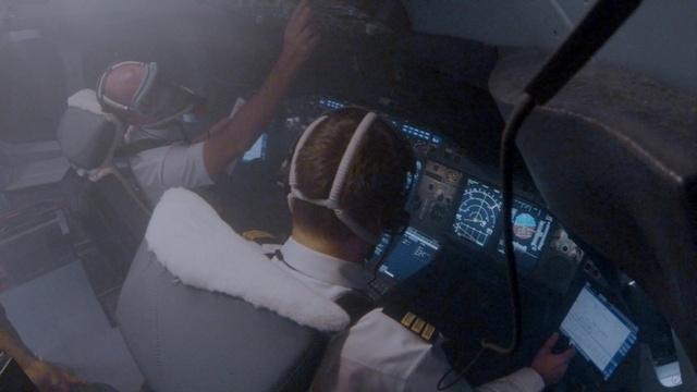 Rauch im Cockpit