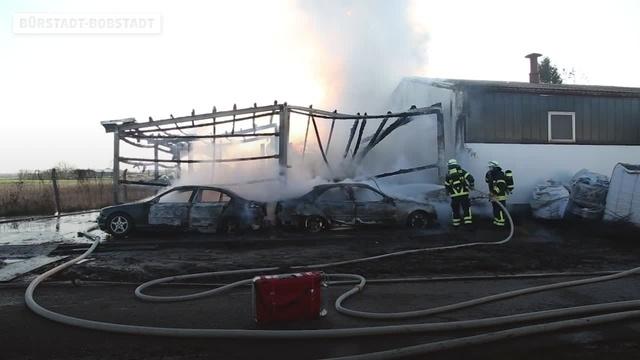 Brand in Bürstadt-Bobstadt