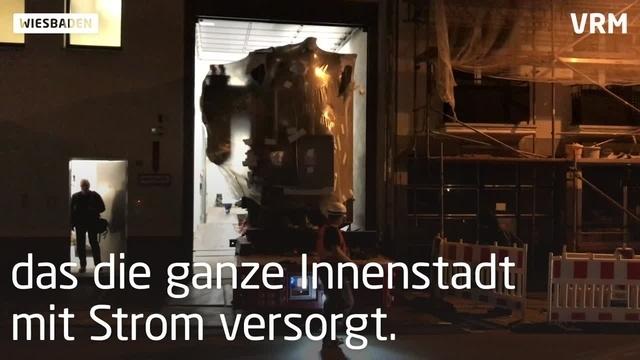 Neuer Transformator in Wiesbaden eingebaut