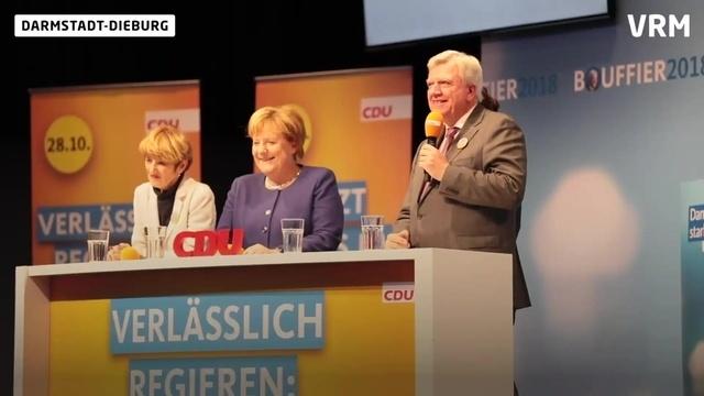 Bundeskanzlerin Angela Merkel zu Besuch in Dieburg