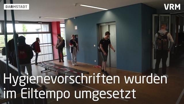 Darmstadt: Erster Schultag nach 6 Wochen Zwangspause