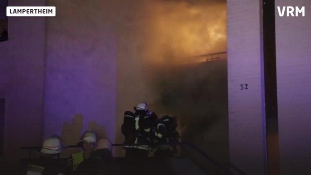 Wohnungsbrand in Lampertheim