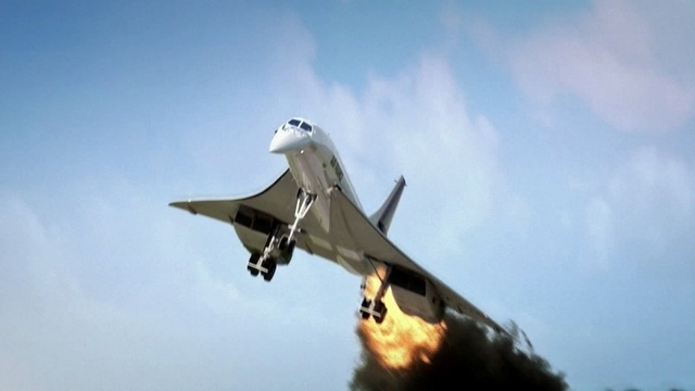 Concorde in Flammen