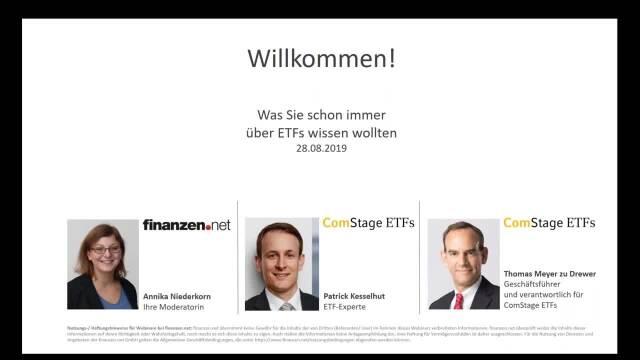 Webinar: Was Sie schon immer über ETFs wissen wollten!