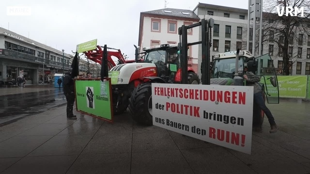 Landwirte protestieren in Mainz