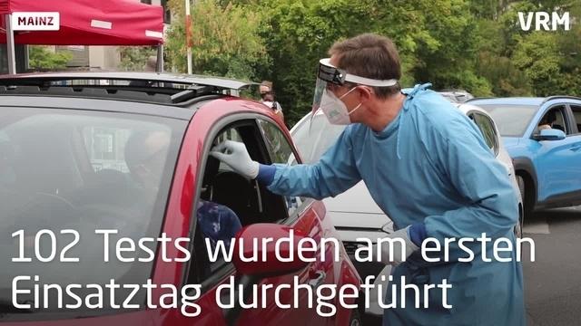Mainzer Corona-Teststation angelaufen