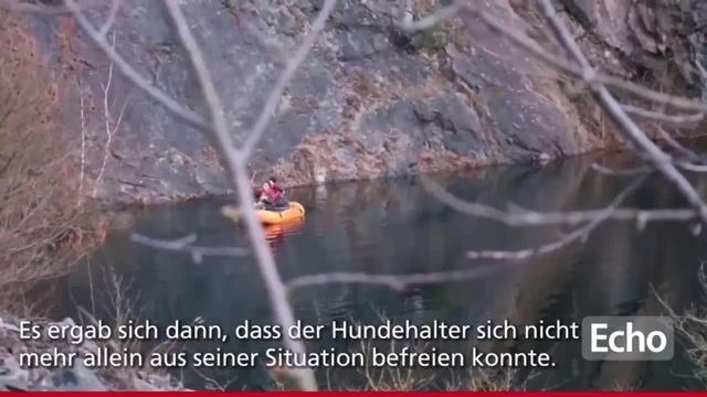Hund und Herrchen aus Steinbruch in Nieder-Ramstadt gerettet