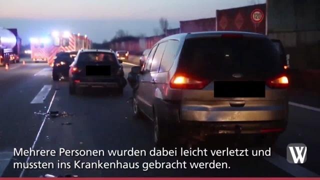 Auffahrunfall auf A3 am Wiesbadener Kreuz