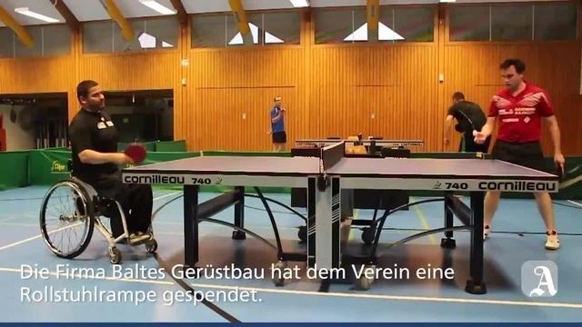 Rampe für Tischtennisspieler