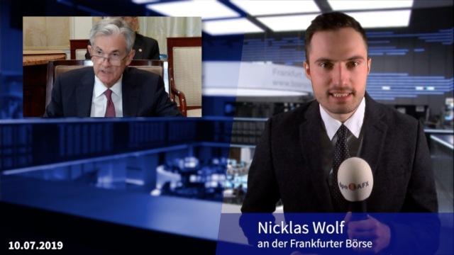 Dax dämmt Verluste nach Aussagen von Fed-Chef Powell ein