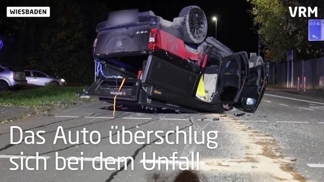 Schwerer Unfall mit Rettungswagen in Wiesbaden