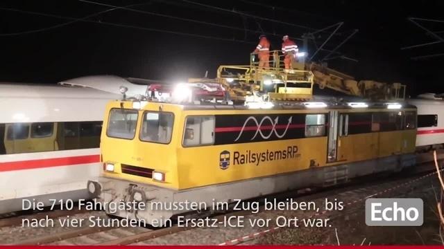 ICE bleibt bei Lampertheim liegen