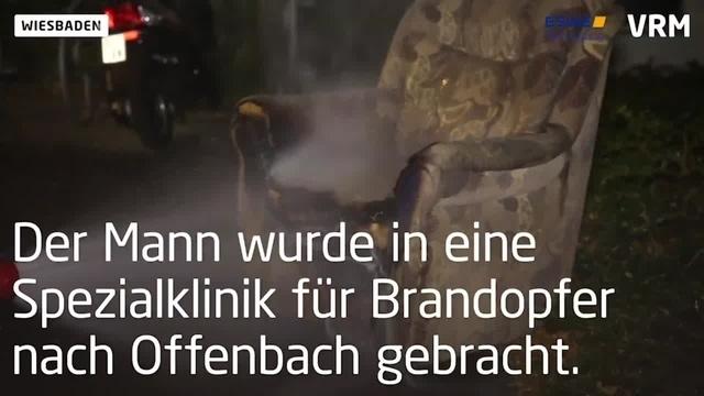 Wiesbaden: Kleidung fängt Feuer - 93-Jähriger bei Brand schwer verletzt