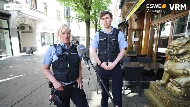 Rundgang mit der Wiesbadener Stadtpolizei