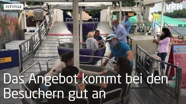 Eltville: Riesenrad am Rheinufer dreht sich