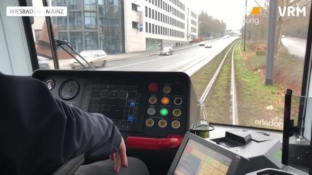 City-Bahn-Test mit der Mainzer Straßenbahn