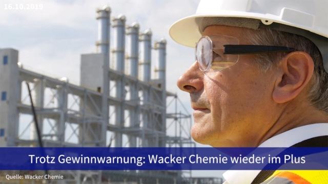 Aktie im Fokus: Trotz Gewinnwarnung: Wacker Chemie wieder im Plus