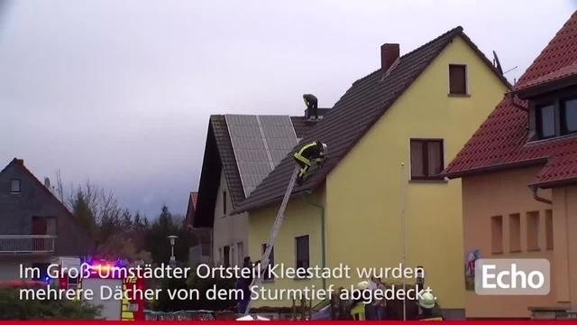 Sturmtief Burglind trifft auf Südhessen