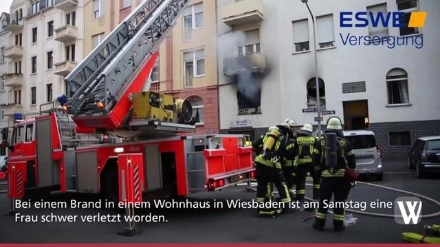 Schwerverletzte nach Brand in Wiesbadener Wohnhaus