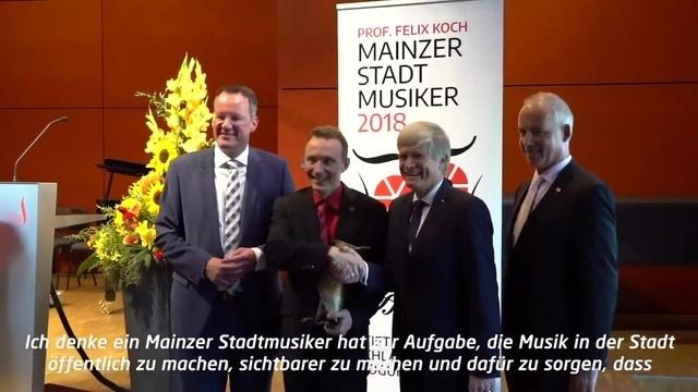 Preisverleihung Mainzer Stadtmusiker 2018 an Prof. Felix Koch