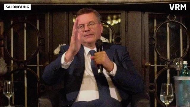 Salonfähig: DFB-Präsident Grindel zu Gast bei der VRM