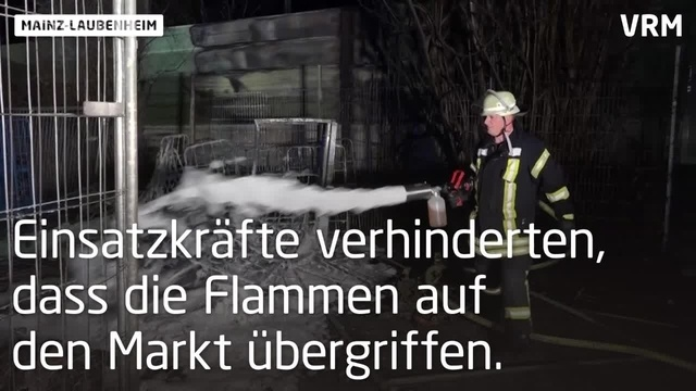 Supermarkt-Brand in Mainz