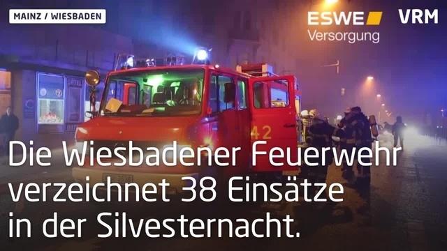 Silvester-Einsätze in Mainz und Wiesbaden