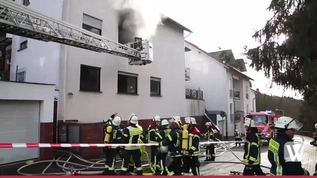 Wiesbaden: Brand in Rambacher Ostpreußenstraße