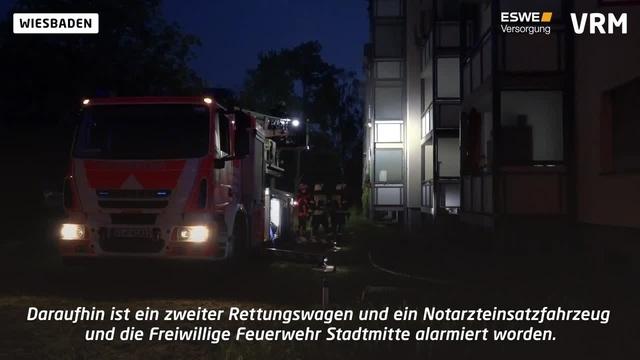 Zwei Verletzte bei Brand in Wiesbaden