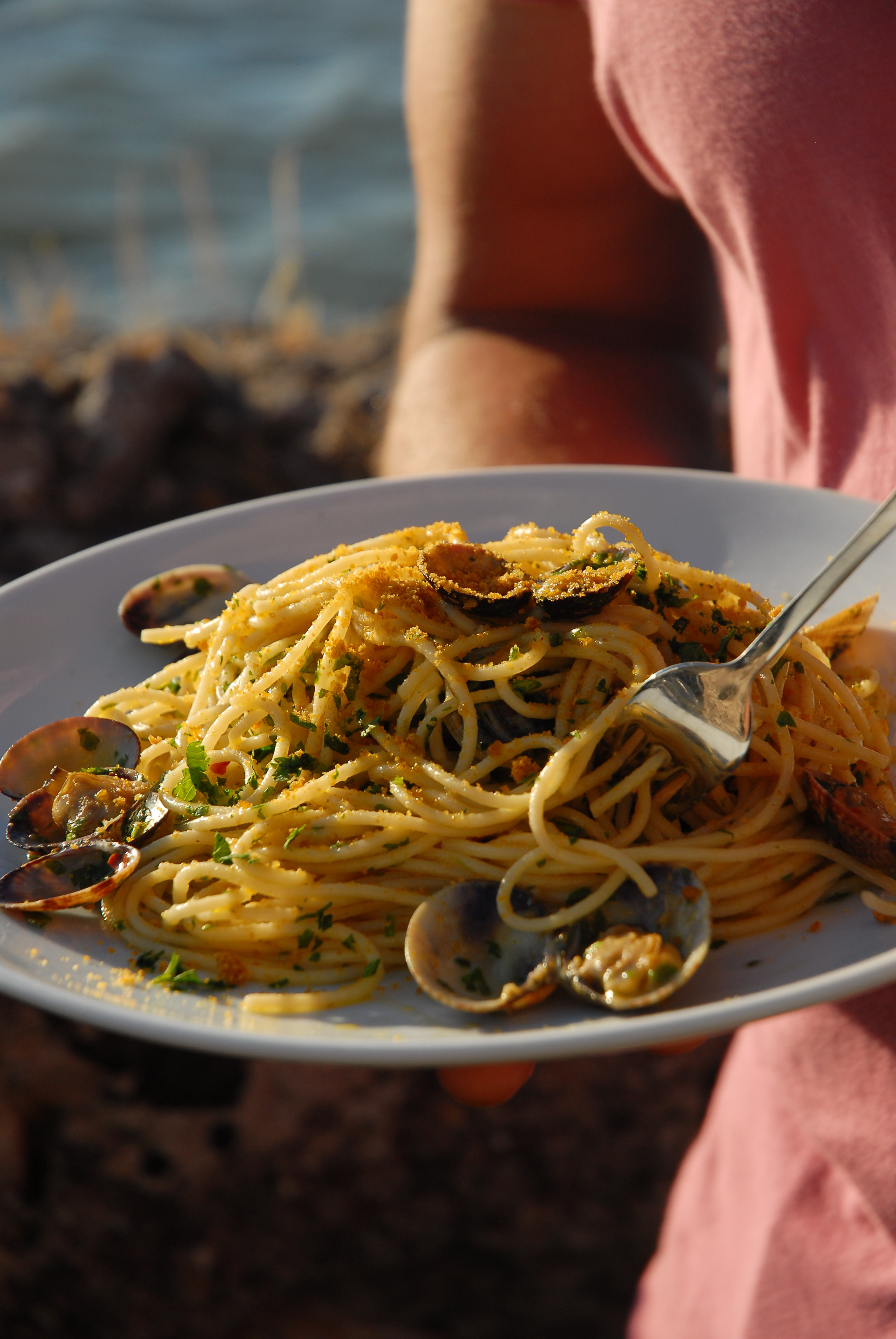 Spaghetti alle vongole mit Bottarga