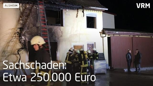 Feuer in Alsheim zerstört Wohnhaus vollständig