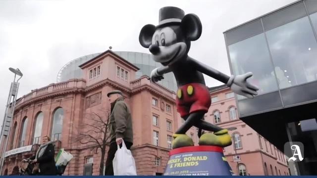 Mickey Maus in der Mainzer Innenstadt