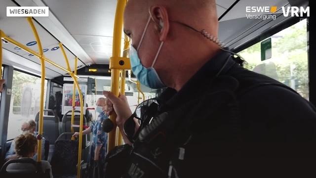 Masken-Kontrollen in Wiesbadener Bussen